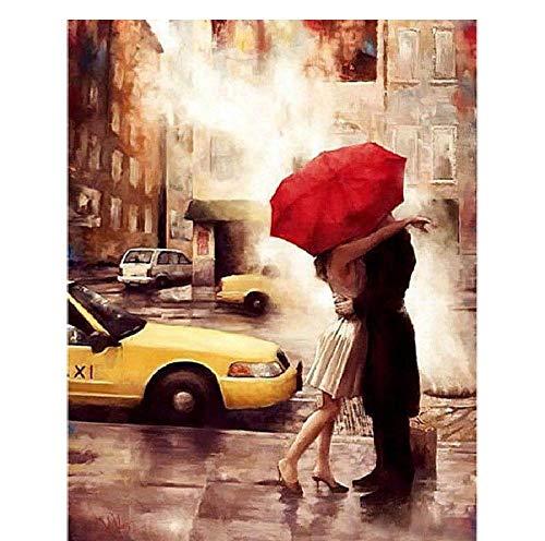 WZZPSD Puzzle 1000 Pezzi Amore Modello Che Abbraccia sulla Strada sotto La Pioggia Salotto Puzzle in Legno Fai da Te Stile Regalo per La Casa