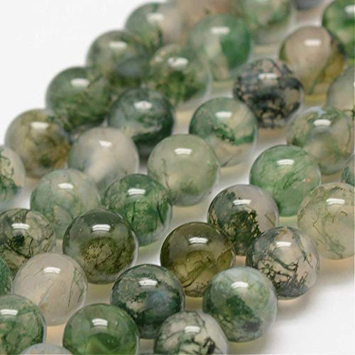 Charming Beads Filo 60+ Verde Agata Muschiata 6mm Tondo Perline GS1646-2