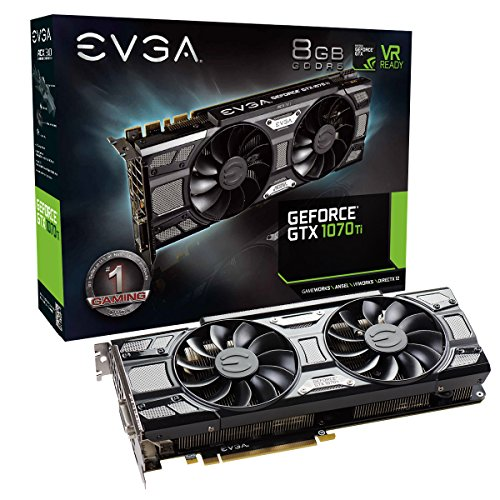 EVGA GeForce GTX 1070 Ti SC GAMING ACX 3.0 Black Edition, 8GB GDDR5, EVGA OCX Scanner OC, White LED, DX12OSD Support (PXOC) Carte Graphique 08GP45671KR