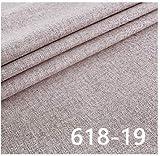 VIAIA Tela de Lino Telas de tapicería Material para Tapa de sofá Tela Lisa sólida para Cortina (Color : 19, Size : 50x150cm)
