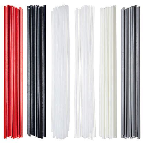 Vignee 60PCS Plastic Welding Rods-PP/PVC/PE/ABS/Plastic Welder Rods Kit for Car Bumper Plastic Repair(Beige/White/Grey/Black)