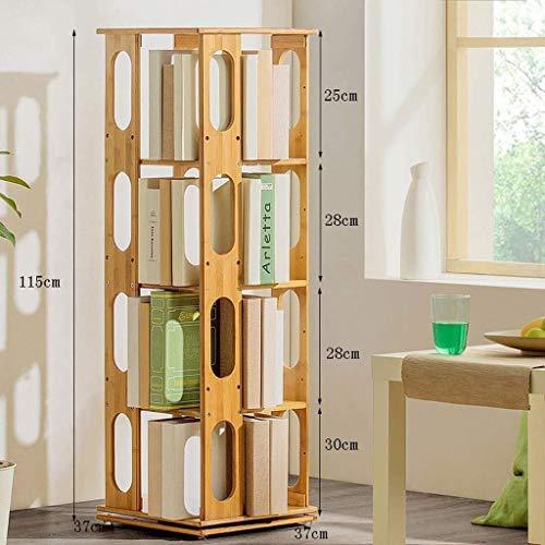 CHGDFQ Estantería de Piso Altura Prisma 115 cm Librería Sencilla 360  Grado Libros giratorios Sundries Estante Locker 37x115cm
