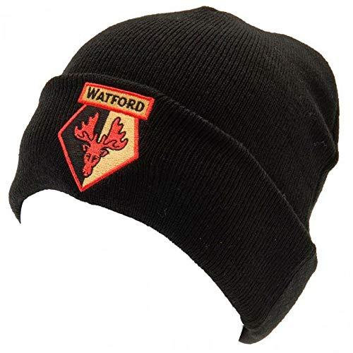 Watford FC - Bonnet tricoté - Adulte (Taille Unique) (Noir/Jaune/Rouge)