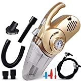 xupu Staubsauger4 in 1  Multi Function Car Vacuum Cleaner with Digital Display Portable Car Dual Use Car Auto Inflatable Pump Air Compressor