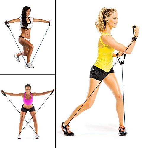 Resistance Bands,Exercise Bands with Handles,Home & Gym Strength Training Tubes, Resistance Loop Bands for Men/Women,Workout Bands for Shoulder,Arm and Leg, Fitness Strength Training 30 lbs(Black)