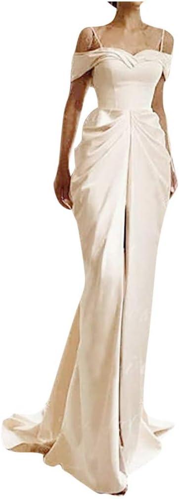 YOMXL Women's V-Neck Elegant Formal Super special price Slee Gown Popular brand Bridesmaid Evening