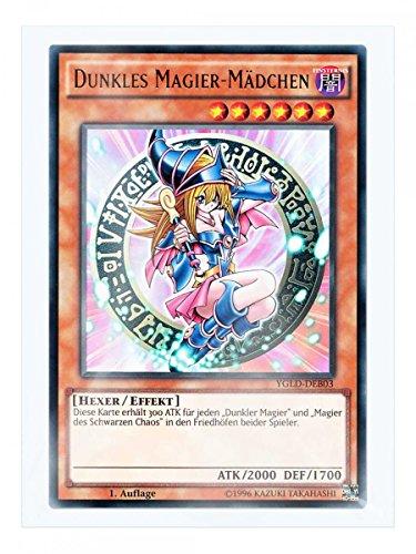 YGLD-DEB03 Dunkles Magier-Mädchen 1. Auflage im Set mit original Gwindi Kartenschutzhülle