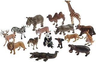 Wild animal model set, Montessori language teaching aids Realistic Animal Toys, 16pcs