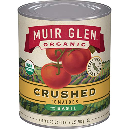 Muir Glen Organic Crushed Tomatoes With Basil, 28 oz