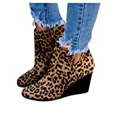 Gibobby Booties for Women Wide Width Women's Ankle Boots Slip On Loafers Pointed Toe Chunky Block Low Heel Office Dress Casual Shoes Cutout Booties Brown
