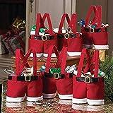 Mbuynow Zogin Insieme di 6 Decorazioni di Natale Babbo Pantaloni Borsa del Regalo, Sacchetto della Caramella
