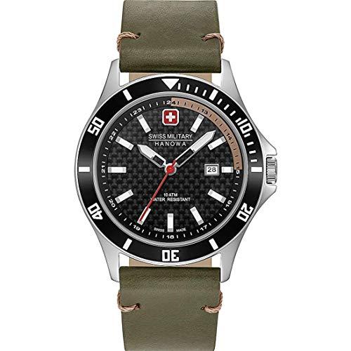 Swiss Military Hanowa Reloj Analógico para Unisex Adultos de Cuarzo con Correa en Acero Inoxidable 06-4161.2.04.007.14