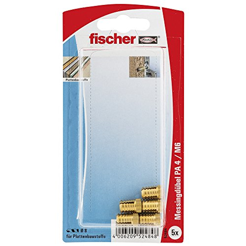 fischer 052484 K SB-Karte, Inhalt: 5 x Messingdübel PA 4 M6/13,5