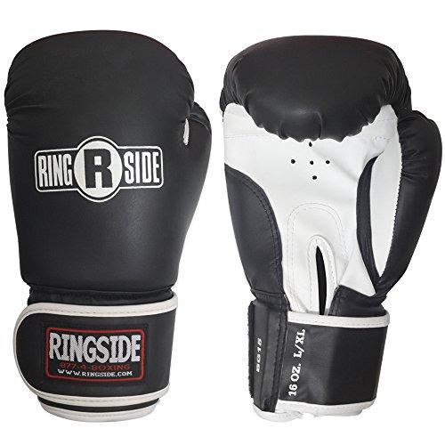 Ringside Striker Boxing Training Sparring Gloves, Small/Medium, Black/White