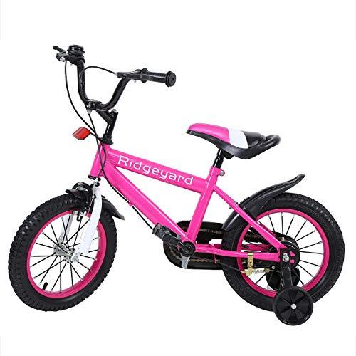 MuGuang 14 Pouces Vélo Enfant Étude d'apprentissage équitation Vélo Garçons Filles Vélo avec...
