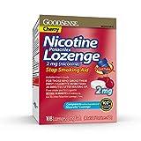 GoodSense Nicotine Polacrilex Lozenge, 2 mg (Nicotine), Stop Smoking Aid, Cherry Flavor; Quit Smoking with Cherry Nicotine Lozenge, 108 Count, 108 Count