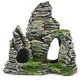 Ygerbkct SR1004 Acuario simulación Vista de la montaña Adorno de Piedra rocalla Paisaje Roca Resina pecera decoración