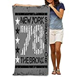Toalla De Baño Toalla De Playa Secado Rápido Toallas De Baño para Baño Y Gimnasio Nueva York Tipografía Bronx Impresión Gráfica Hombre NYC Ropa Original Emblema