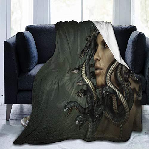 MASDUIH Flannel Blanket Greek Mythology Medusa Lightweight Cozy Bed Blanket Throw Blanket Fit Couch Sofa