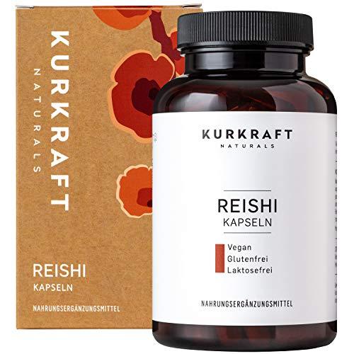 Kurkraft® Reishi Extrakt (120 Kapseln) - 35% bioaktive Polysaccharide - LABORGEPRÜFT - 500mg je Kapsel - Vegan - ohne Zusatzstoffe