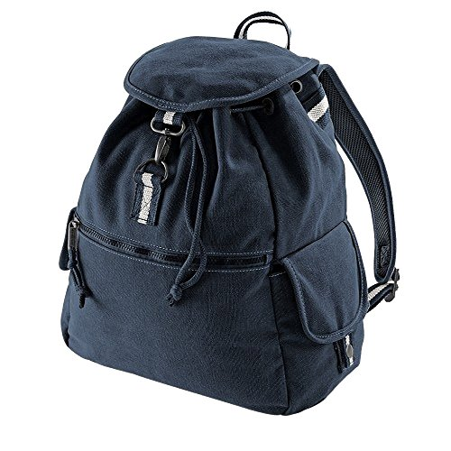 Quadra Vintage Canvas Backpack - 18 Litres (One Size) (Vintage Oxford Navy)