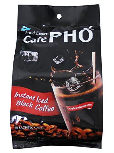 Cafe Pho instant iced Black Coffee 18 sachets