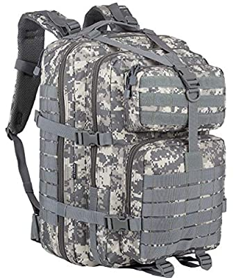 GZ XINXING 45L Large Military Tactical Backpack Army 3 Day Assault Pack Molle Bag Backpacks (ACU)
