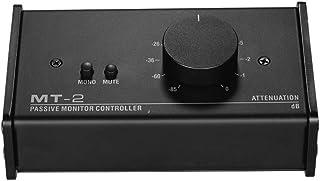 Muslady Controlador de Monitor Pasivo con Entradas XLR de 3,5 mm Salidas Admite la Función de Silencio de Control de Atenuación