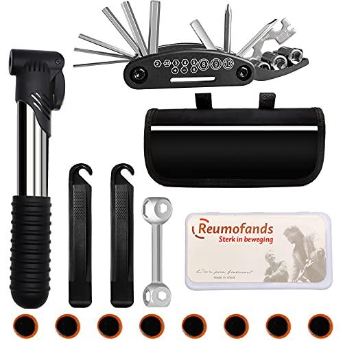 Fahrrad-Multitool Kit,16-in-1 Werkzeuge für Fahrrad Reparatur Set mit Tasche Multitool Fahrrad Werkzeug Set für Mountainbikes und Rennräder