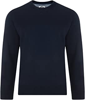 Kam Cotton Rich Fleece Crew Neck Sweat Top in Size 2XL to 8XL, 2 Color Options
