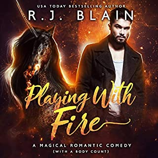 Playing with Fire: A Magical Romantic Comedy  audiobook cover art