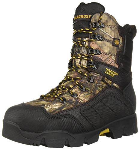 "LaCrosse Men's 566712 Cold Snap 9"" Waterproof 2000G Hunting Boot, Mossy Oak Break-Up Country - 10 W"