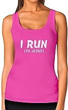 Tstars - I Run to Jesus Running Jogging Christian Women Tank Top