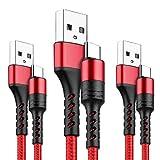 LTDNB Câble USB Type C [1m+1m+2m/Lot de 3] Cable USB C en Nylon Tressé Câble Connecteur Ultra Résistant pour Samsung Note 8 S8 S9, Huawei P10 P9 P20, Macbook Pro 2016, Nexus 6P /5X