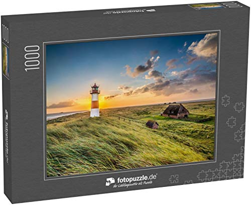 fotopuzzle.de Puzzle 1000 Teile Sonnenaufgang am Leuchtturm in List auf der Insel Sylt, Schleswig-Holstein, Deutschland