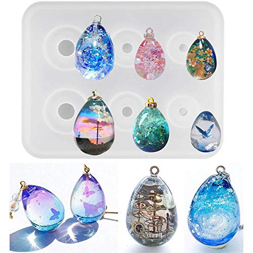 "Octor Eggs Silicone Resin Molds for Jewelry Keychain, Epoxy Resin Egg Mold, Mini Orbs Pendant Casting Silicon Mold for UV Resin Crafts, DIY Eggs Jewelry Making (0.6""/0.8""/1"")"
