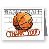 """Play Strong Basketball Thank You Note Cards (4.25""""x5.5"""") 12-Pack Sports Powercard Note Card Set 12-Pack, Perfect for Youth Sports #AllProfitsToHelpKids"""