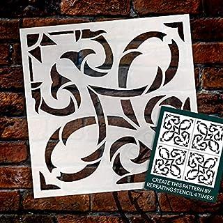 Vine Ornament Tile Stencil by StudioR12 | DIY Kitchen Backsplash | Reusable Wall Pattern & Bathroom Floor Tile Stencils | ...