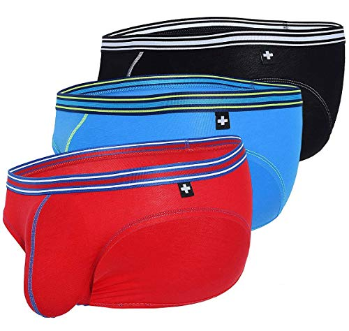 Andrew Christian Herren Slip 3er Pack Boy Brief Superhero 3-Pack 91476, Mehrfarbig L