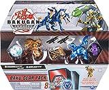 Bakugan Baku-Gear Pack con 4 Armored Alliance Bakugan (Ultra Aurelus Dragonoid, Ultra Aquos Howlkor, Basic Haos Pegatrix, Basic Darkus Hydorous) y 1 Juego de Herramientas Baku-Gear