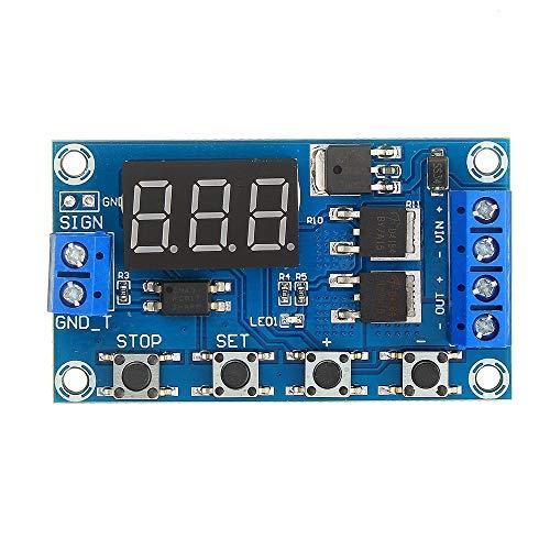 Módulo de relé, Módulo de relé Junta de Control de Interruptor 1pcs XY-J04 Disparador Ciclo Tiempo de retardo de Doble Circuito Mos Tubo
