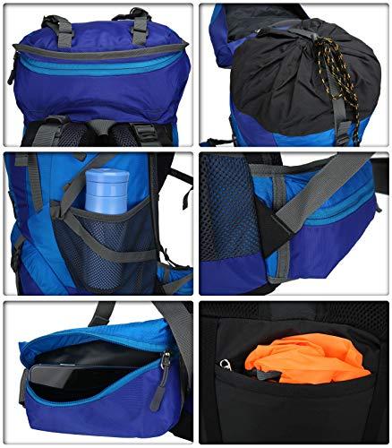 51PM rfHzoL - Doshwin Mochila Grande Camping Trekking Senderismo Viaje para Mujer Hombre / 70L