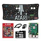 Atari Ultimate Arcade Fightstick USB Dual Joystick 2 Player Game Controller Powered by Raspberry Pi 3B+ 1GB RAM 32GB Micro SD Card Preloaded Over 100 Classic Atari Games