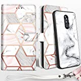 LG Stylo 4 Wallet Case, LG Stylo 4 Plus Case, LG Q Stylus Case, Shileds Up [Detachable] Slim Magnetic Case, Card/Cash Slots, [Vegan Leather] Cover for LG Stylo 4 Plus -Marble
