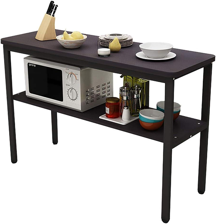 2 Tier Metal + Wood Storage Shelf Racking Shelving Unit Kitchen,Floor Predection Rubber Feet (Size   60  40  80cm)