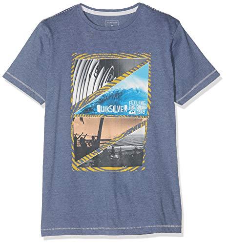 Quiksilver Youth Dream T-Shirt Garçon, Bijou Blue Heather, FR : XL (Taille Fabricant : XL/16)