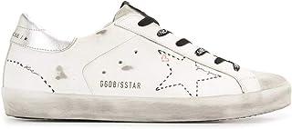 Moda De Lujo   Golden Goose Mujer GWF00101F00012710212 Blanco Cuero Zapatillas   Ss21