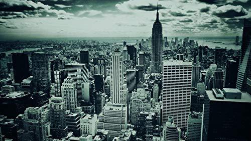 HCYEFG Puzzle DIY para Adultos, niños, Amigos, Blanco y Negro, Ciudad de Nueva York, Edificios del Mundo, 1000 Piezas, Rompecabezas.