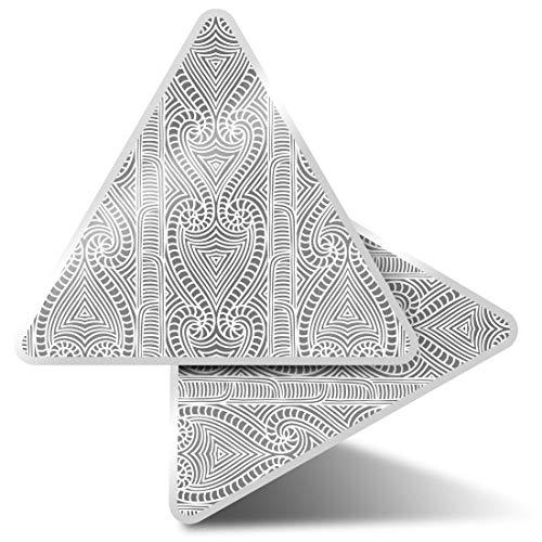 2 pegatinas triangulares de 7,5 cm – BW – Pretty Maorí Tribal Pattern Fun Calcomanías para portátiles, tabletas, equipaje, reserva de chatarra, neveras #38308
