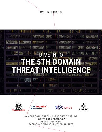 Dive Into the 5th Domain: Threat Intelligence: Cyber Secrets 2 (English Edition)